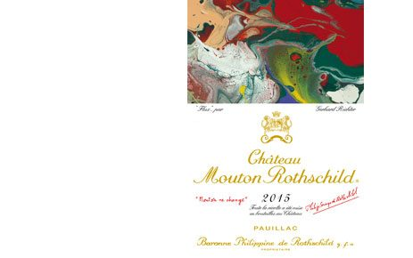 Gerhard Richter Chateau Mouton Rothschild 2015 label