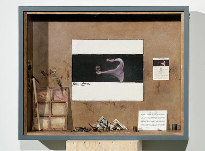 <p><strong>1990 <b>弗朗西斯·培根(</b>Francis Bacon)</strong></p> <p>培根喜欢酒,甚至可能是嗜酒,他为罗思柴尔德木桐堡创作的1990年份酒标,表现了围绕酒杯的闪电般的古怪舞蹈。</p>