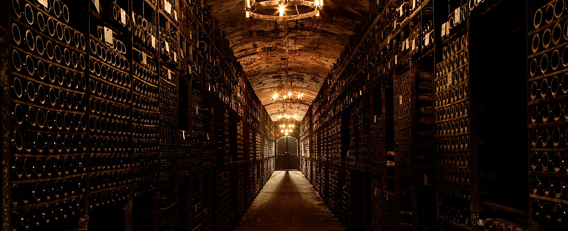 Conditions in the cellars are ideal for keeping wine, with a constant temperature between 12° and 15°, a humidity level between 80% and 90% and little or no light.