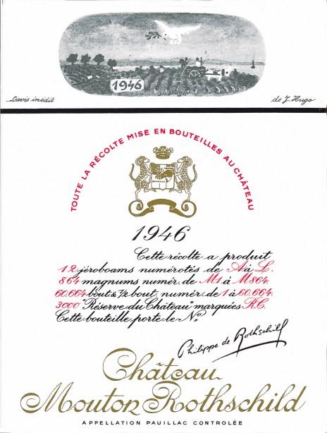 Etiquette Mouton Rothschild 1946