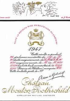Etiquette Mouton Rothschild 1947