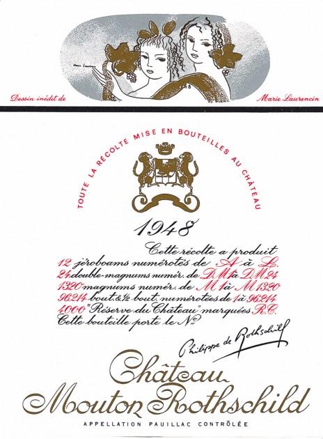 Etiquette Mouton Rothschild 1948