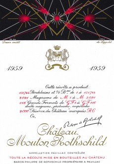 Richard Lippold - Etiquette Mouton Rothschild 1959
