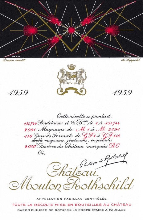 Richard Lippold - Etiquette Mouton Rothschild 1959