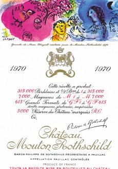 Etiquette Mouton Rothschild 1970