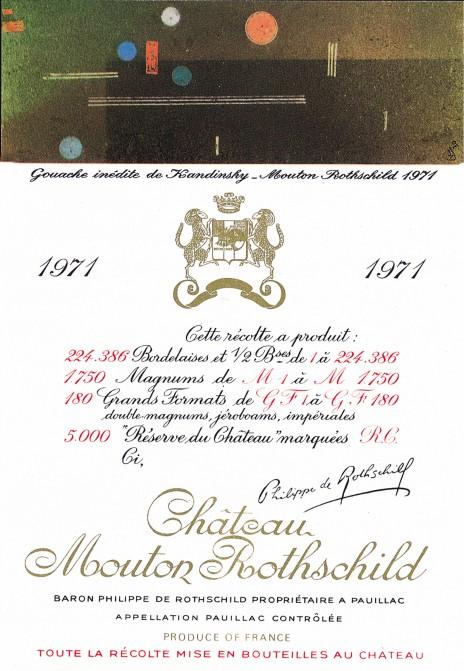 Etiquette Mouton Rothschild 1971