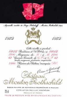 Etiquette Mouton Rothschild 1972