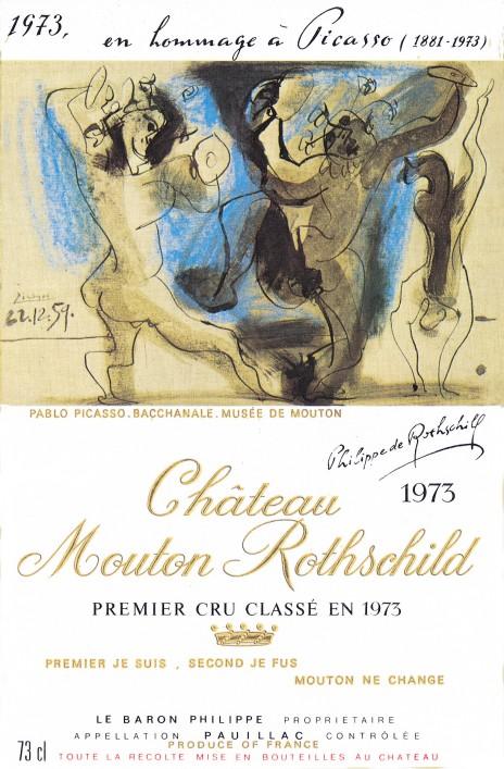 Pablo Picasso - Etiquette Mouton Rothschild 1973