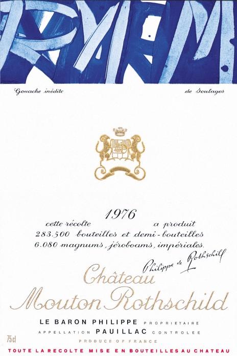 Etiquette Mouton Rothschild 1976
