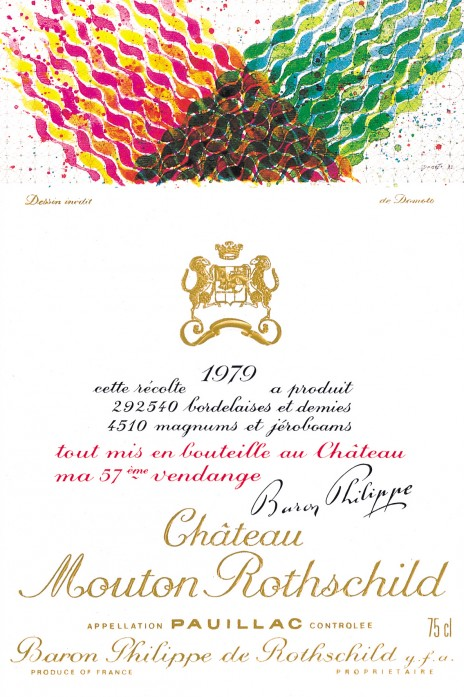 Hisao Domoto - Etiquette Mouton Rothschild 1979