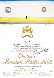 Etiquette Mouton Rothschild 1983