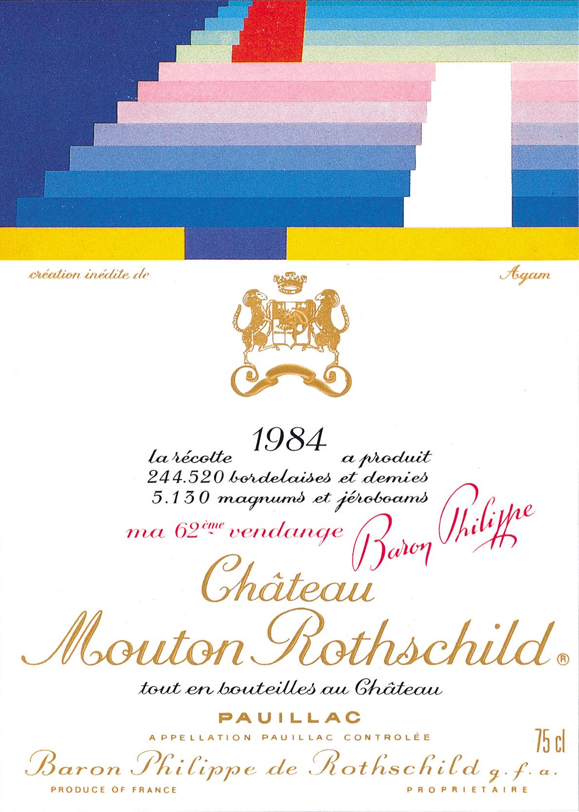 Etiquette Mouton Rothschild 1984