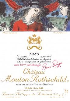 Paul Delvaux - Etiquette Mouton Rothschild 1985