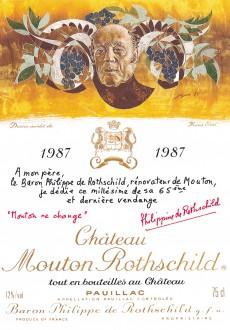 Etiquette Mouton Rothschild 1987