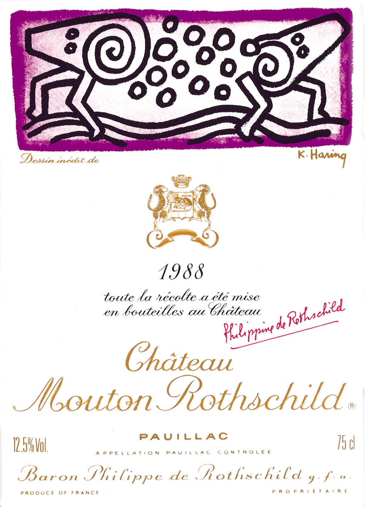Etiquette Mouton Rothschild 1988