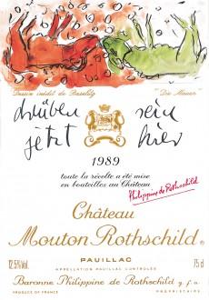 Etiquette Mouton Rothschild 1989