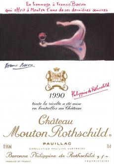 Etiquette Mouton Rothschild 1990
