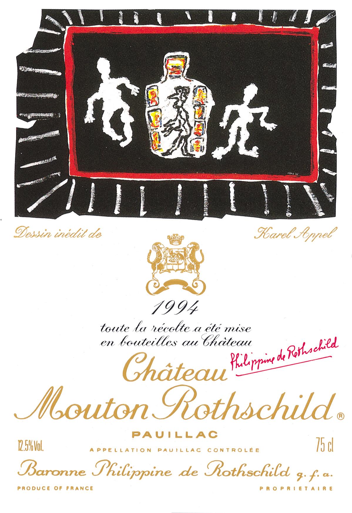 Etiquette Mouton Rothschild 1994