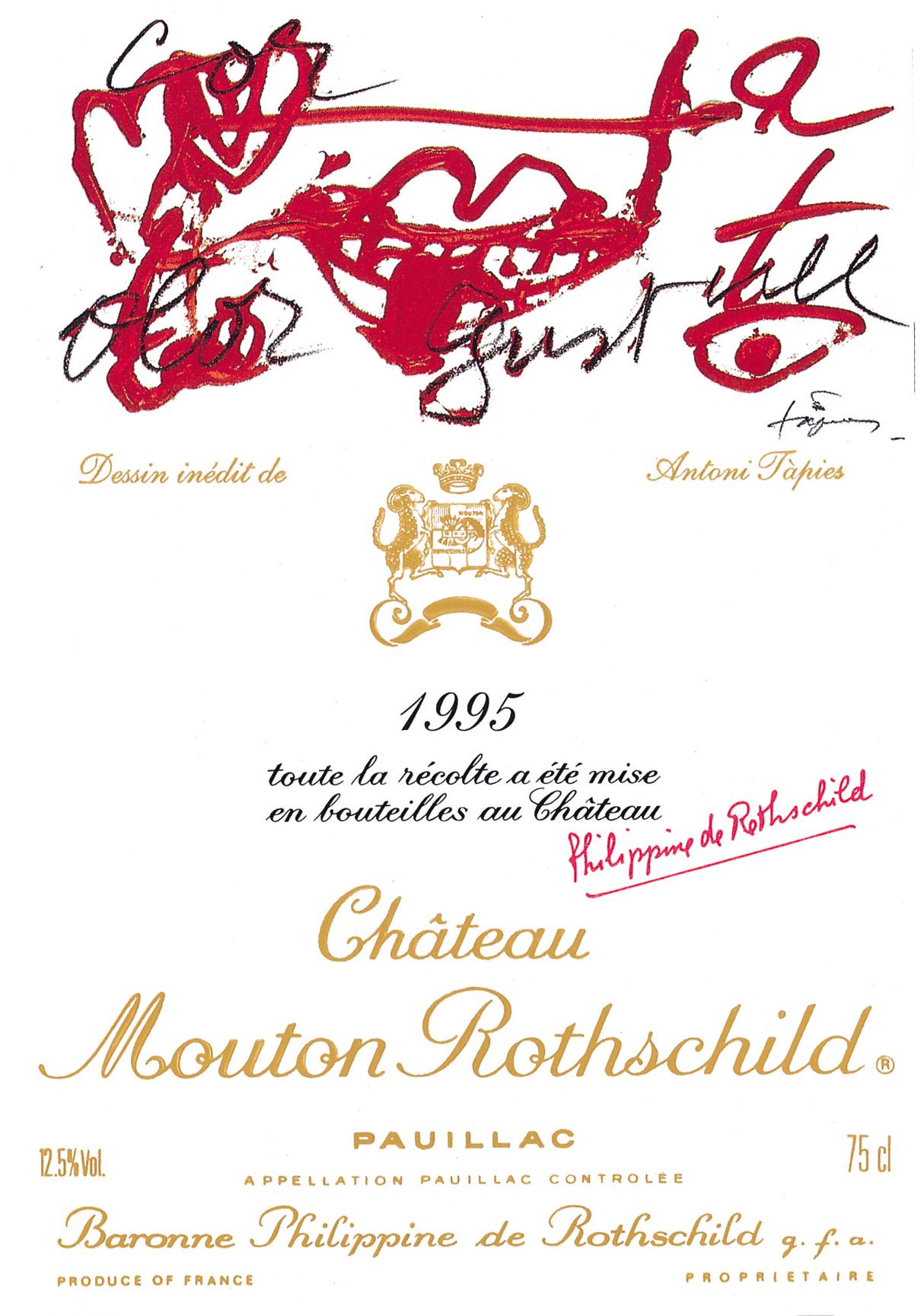 Etiquette Mouton Rothschild 1995