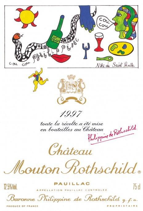 Etiquette Mouton Rothschild 1997