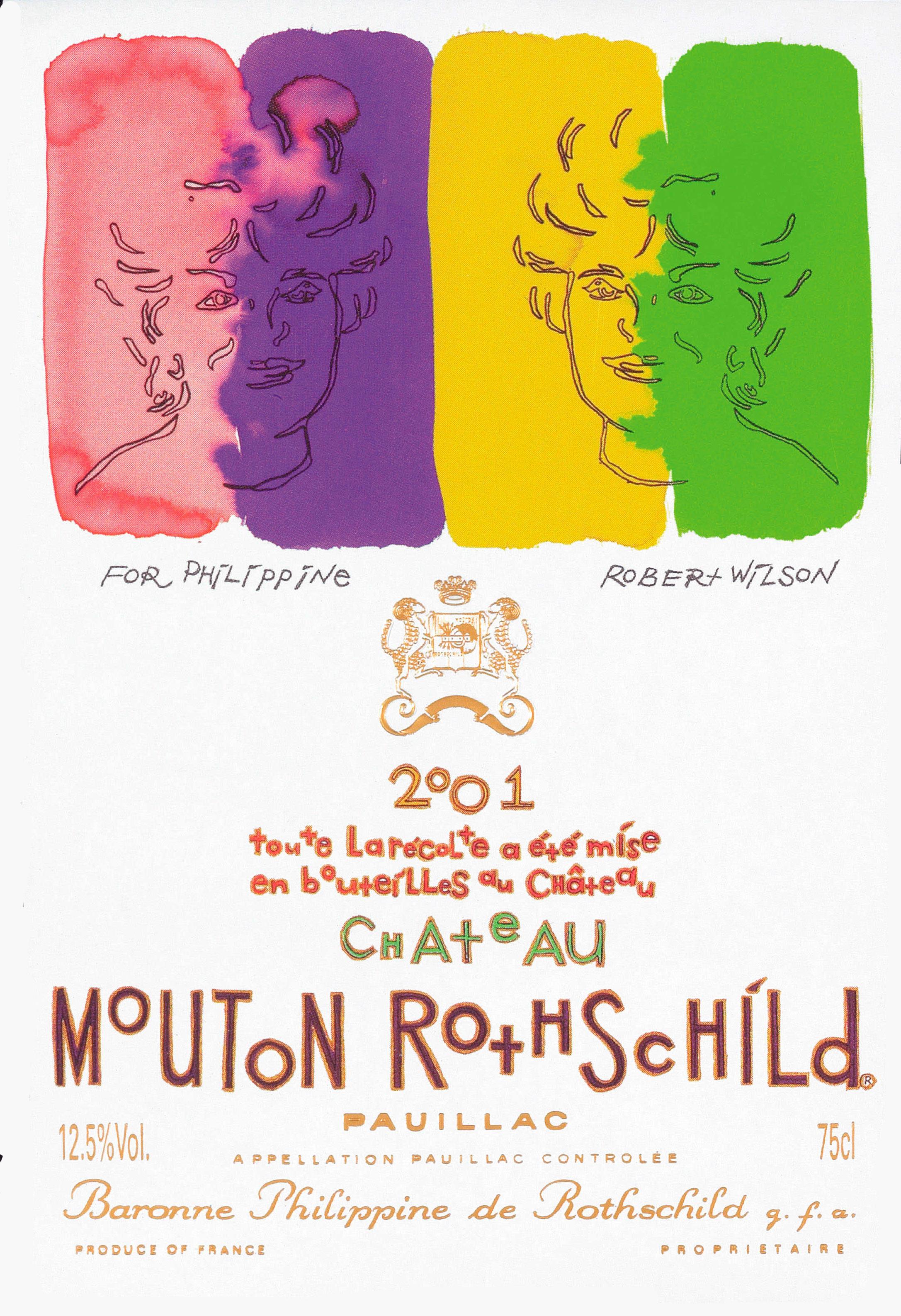 Etiquette Mouton Rothschild 2001