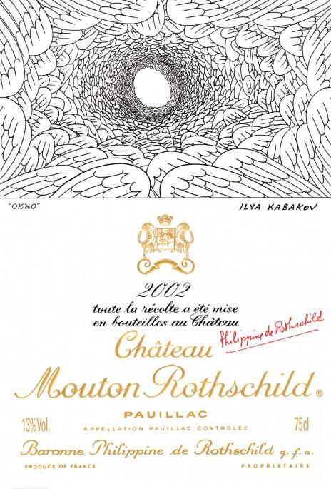 Etiquette Mouton Rothschild 2002