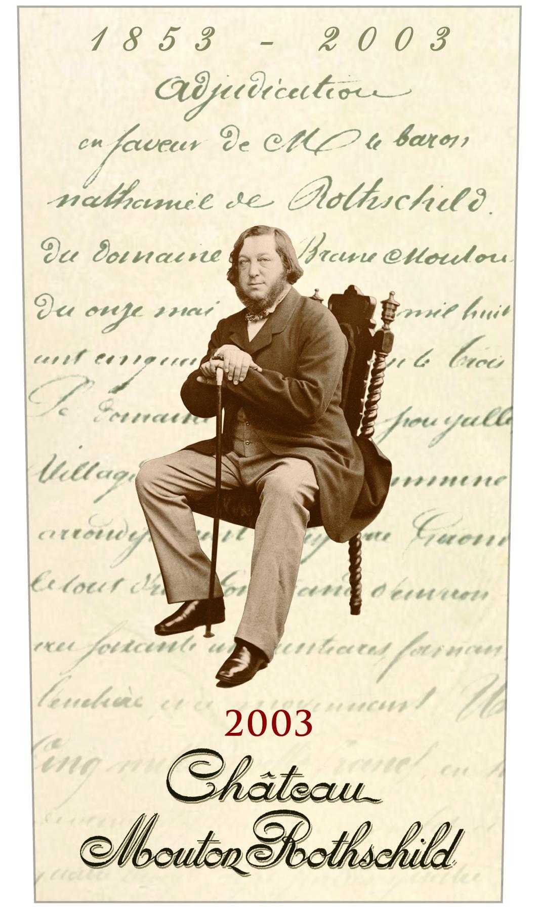 Etiquette Mouton Rothschild 2003