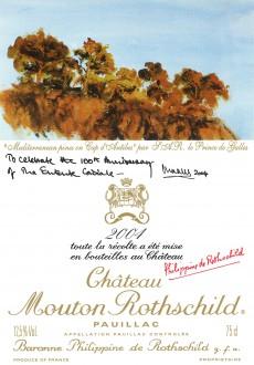 Etiquette Mouton Rothschild 2004