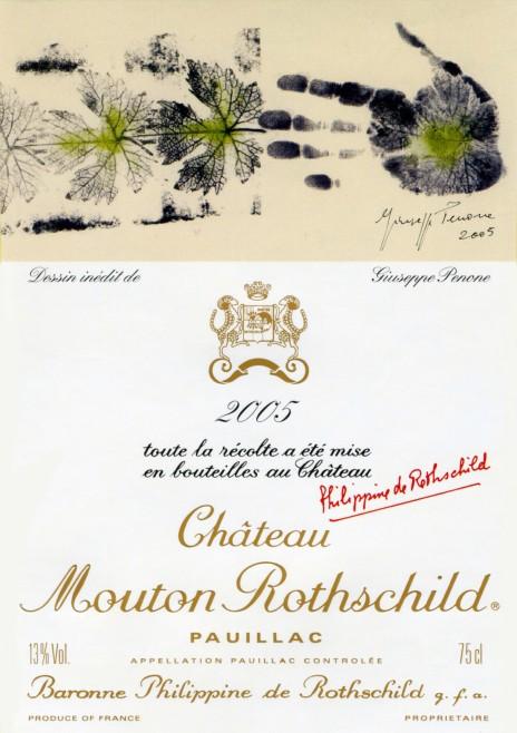 Etiquette Mouton Rothschild 2005