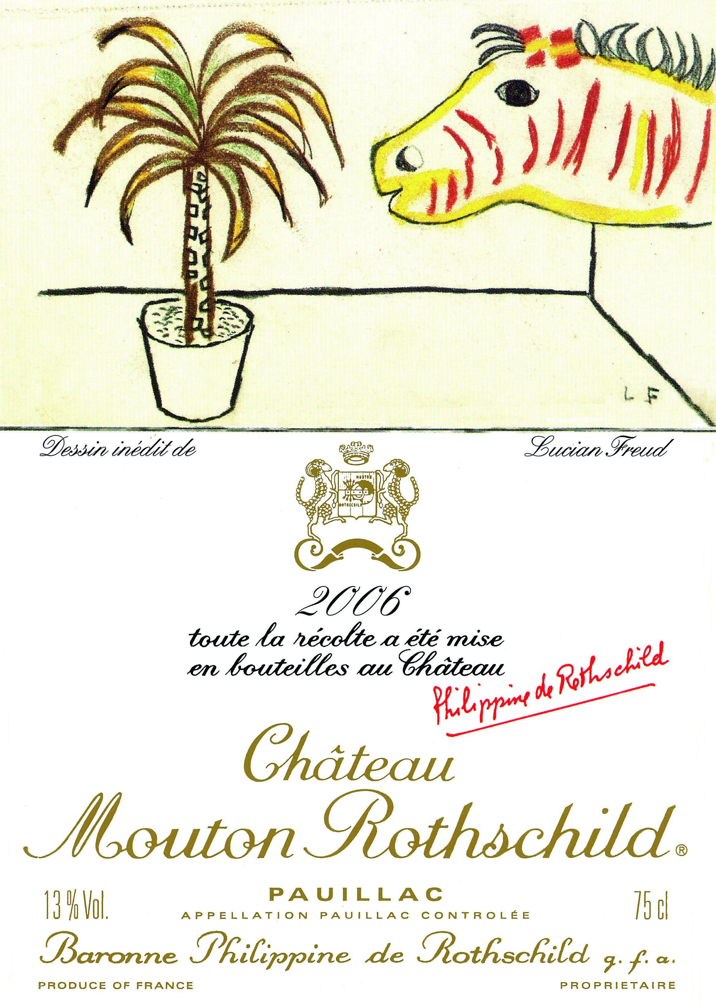Etiquette Mouton Rothschild 2006