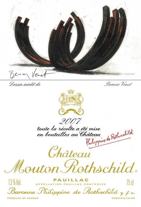 Etiquette Mouton Rothschild 2007