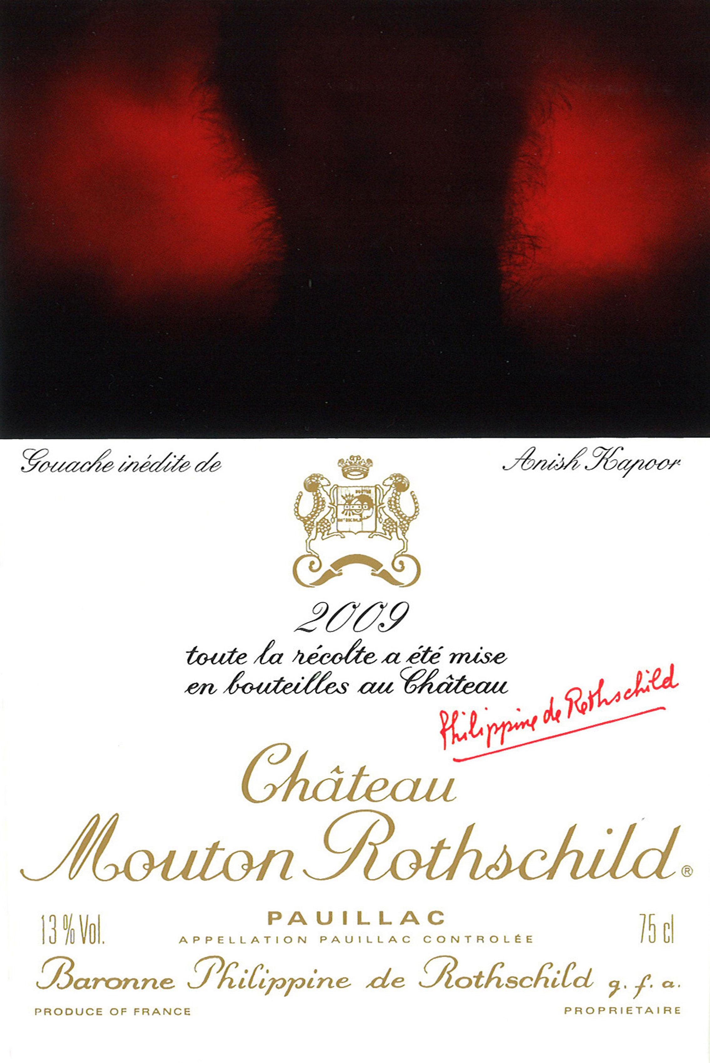 Anish Kapoor - Etiquette Mouton Rothschild 2009