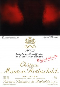 Etiquette Mouton Rothschild 2009