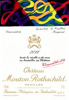 Mouton Rothschild 2011 vintage label