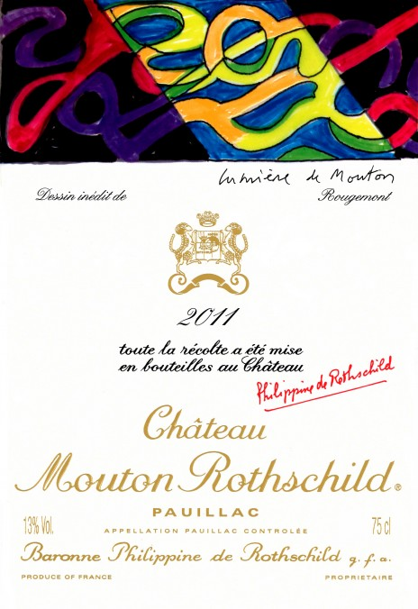 Mouton Rothschild 2011 vintage label