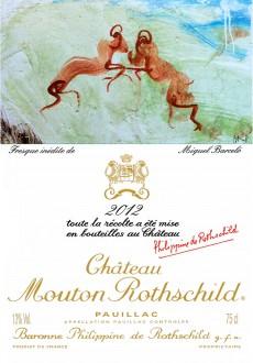 Etiquette Chateau Mouton Rothschild 2012
