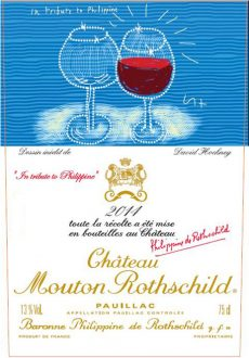 Chateau Mouton Rothschild 2014 label