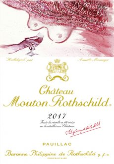 Chateau Mouton Rothschild mlabel 2017 french artist Annette Messager