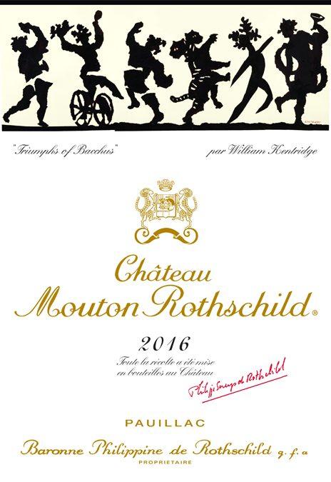 ウィリアム・ケントリッジ Etiquette Label 2016 Chateau Mouton Rothschild