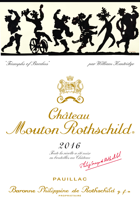 ウィリアム・ケントリッジ Etiquette Label 2016 Chateau Mouton Rothschild