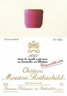 Chateau Mouton Rothschild 2013 Label