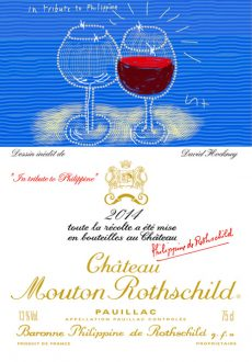 Chateau Mouton Rothschild 2014 label David Hockney