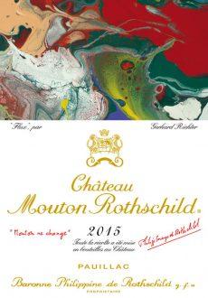 Gerhard Richter étiquette Chateau Mouton Rothschild 2015