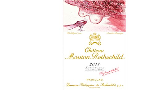 Annette Messager illustrates the label for Chateau Mouton Rothschild 2017