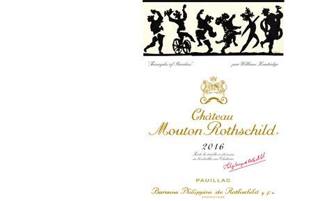 威廉·肯特里奇 Chateau Mouton Rothschild 2016 label, William Kentridge