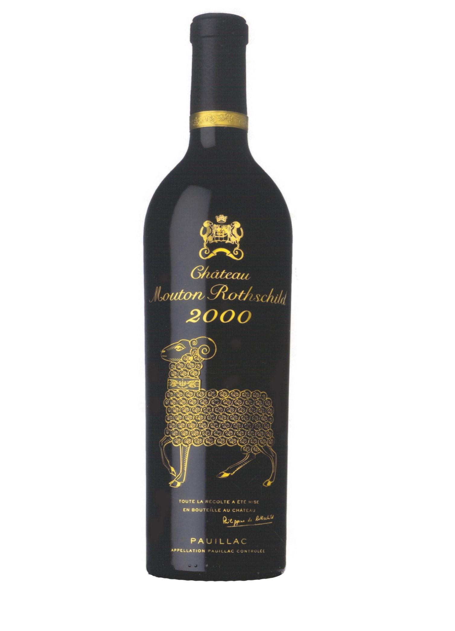 Mouton Rothschild bouteille 2000