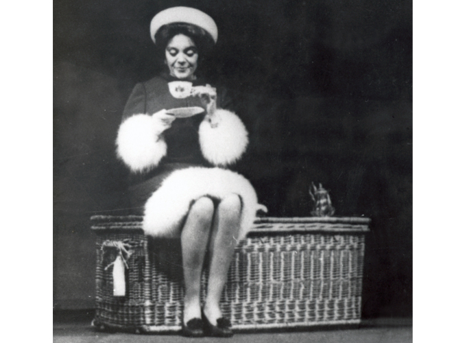 <p>An actress of repute, Baroness Philippine de Rothschild had a stage career under the name Philippine Pascal, notably at the Comédie Française and in the Compagnie Renaud Barrault. Here, in the play Harold and Maud in the 1970s.</p>