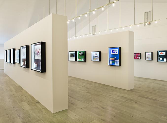 <p>作品はガラスケース内に展示され、美術展示コンサルタント、フランシス・ラクロッシュによる展示デザイン。これらの作品は2013年より、醸造庫隣接のスペースに常設展示され、一般に公開されている。</p>