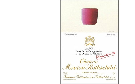 Label Château Mouton Rothschild 2013 Lee Ufan